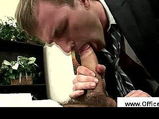 Office Secretary Gives His Boss A Blowjob