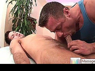 Jake Getting His Huge Dick Massaged And Sucked By Massagevictim