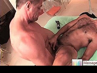 Hairy Dude Getting His Anus Fucked By Massagevictim