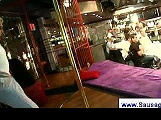 Male Stripper Shoots His Load On A Horny Guy