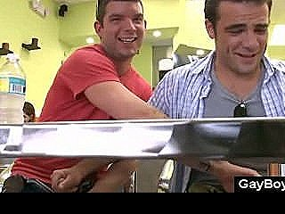 Secret Public Gay Jerking In Lunchroom With Hot Guys