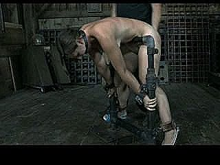 Bdsm Slave Sasha Chained Whipped And Anal Hooked By Sadistic Master