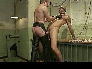 Strong Man In Workshop Gets Tied And Perverted Getting Whipped And Spanked In Bound Rough Sex