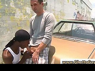 Amateur Black Guy Sucks White Dude Cock In Reality Outdoor Sex