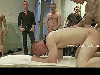 Extreme Gay Group Sex Gathering With Sex Slave Tied And Fuck In Rough Sex
