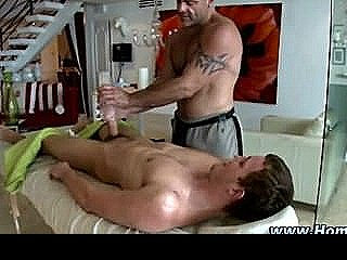 Gay Straight Fleshlight Cock Massage