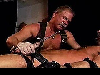A Long Electrostim Sound Is Inserted Into Hot Masculine Steve Parker`s Long Thick Cock.