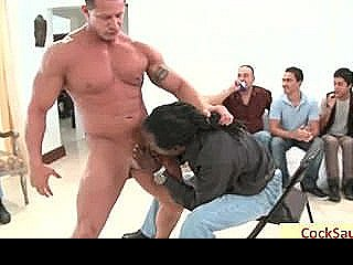 Muscled Guy Gets His Ass Rimmed