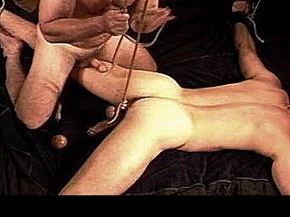 Cbt Bondage And Ball Stretching Session On My Hung And Muscular Bottom Stud.