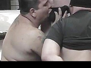 Filthy Pig Daddies Nasty Threesome Fucking Session At The Sex Shop