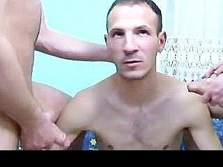 Amateur Gay Twinks Sizzling Hot Threesome Hole Filling On Couch