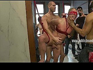 Gay Slave Blindfolded In Public Sex Is To Submit To His Masters In Bdsm Gangbang Sex Video