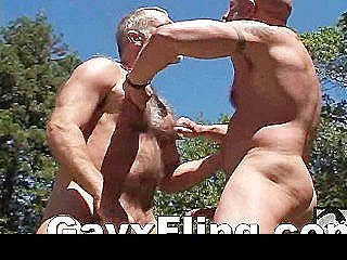 Gay Bear Muscle Guys Hardcore Outdoor