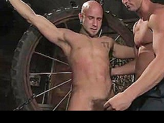 Chained Gay Cock Sucked And Anally Fucked In Barn