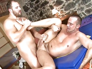 Gay Extreme Bareback Deep One Thrust He Just Doesn`t Hold Back,