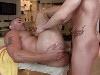 Sexy Dude Uses Belt On His Horny Friend In Wild Hardcore Sex