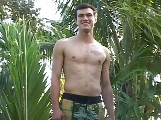 Horny College Boy Strips For The Web Camera Fans