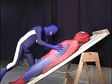 Guy In Spiderman Costme Gets Oral Sex