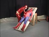 Superhero Attired Studs Sucking Cock