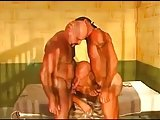 Horny Threesome In Prison Cell