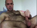 Hairy Bear Wanks On Webcam