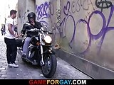 Hot Looking Biker Is Seduced By A Gay