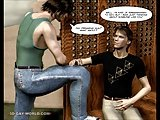 The Hooker Walk: 3d Gay Cartoon Animated Comics