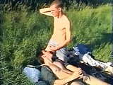 Hot Young Gay Campers Caught Porking At The Field