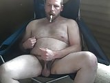 Cub Jerking With A Cigar
