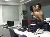 Two Asian Men Office Love