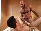 Hairy Muscle Bald Bear Fucks Jay Roberts