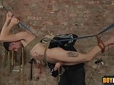Ashton Gets To Masturbate And Wax Twink Timmy While Dangling