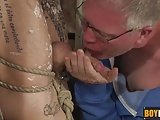 Upended Izan Gets Lube And Wax Action