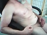 Silver Daddy Jerking Off