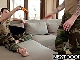 Hot Military Hunks Brandon Moore And Damien Michaels Rammin