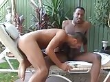 Hot Interracial Outdoor