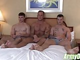 Cock Starved Military Hot Dudes Hard Fucking Threesome
