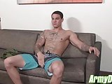 New Hot Recruit Anthony Banks Works Out His Beautiful Dick