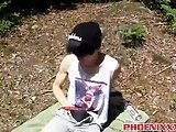 Sexy Asian Twink Daniel Tanner Pleasures Himself Outdoor