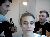 4 German Gorgeous Str8 Boys Go Gay On Cam. Kiss   Hot Ass