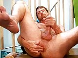 Nice Hairy Guy Shows Cock And Ass